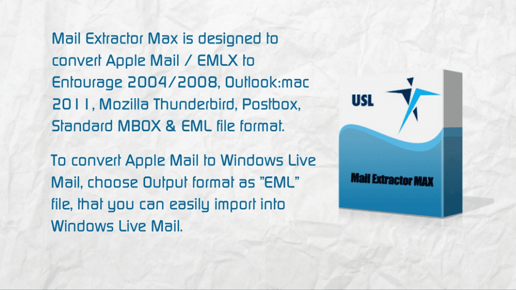 convert apple mail to windows live mail